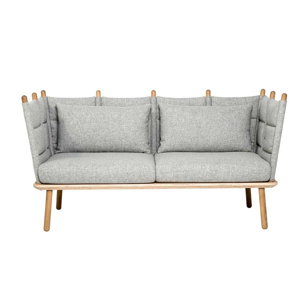 Graues Sofa mit raffinierter Lehne - bei milanari.com