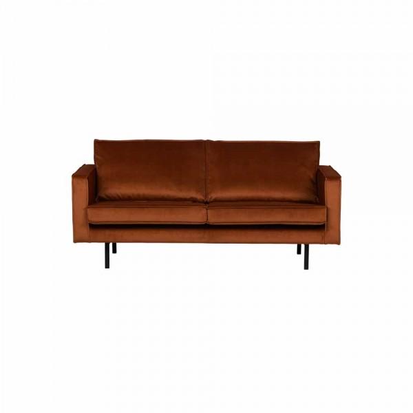 "Couch ""Reka"" aus rostrotem Samt - 2,5 Sitzer"