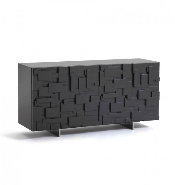 """Sideboard """"Labyrinth""""  von cattelan italia, schwarz"""