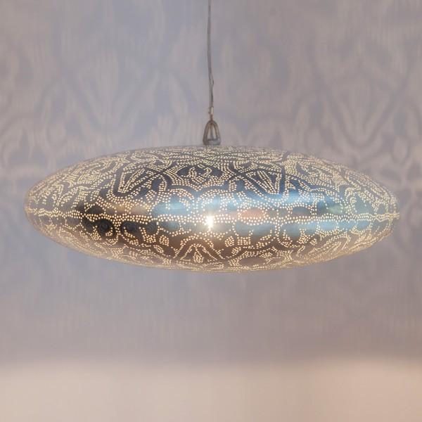 """Orientalische Lampe """"Gabo"""" aus versilbertem Messing"""
