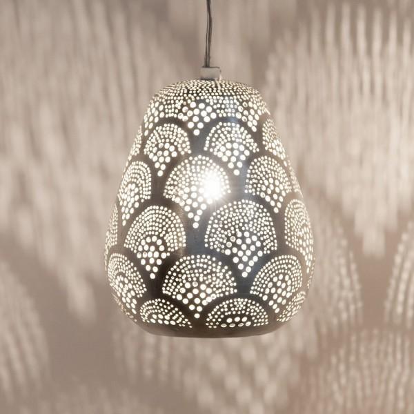 """Orientlampe """"Taysin"""" in der Farbe Silber"""