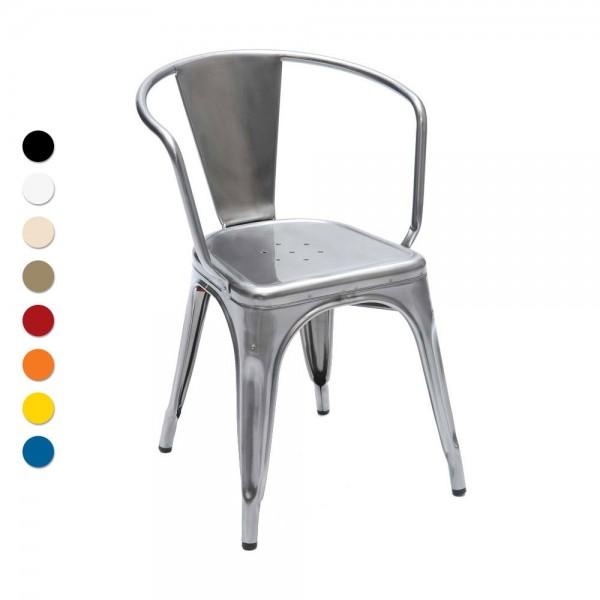 Tolix Stuhl tolix stuhl modell a56 mit armlehne stahl