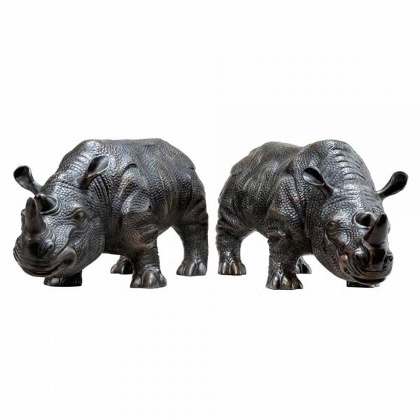 """Skulpturen-Set """"Rhinoceros"""" von EICHHOLTZ"""