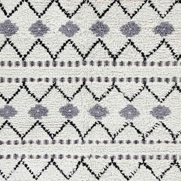 """liv interior Baumwollteppich - hochflorig """"Medina"""" (grau-beige)"""