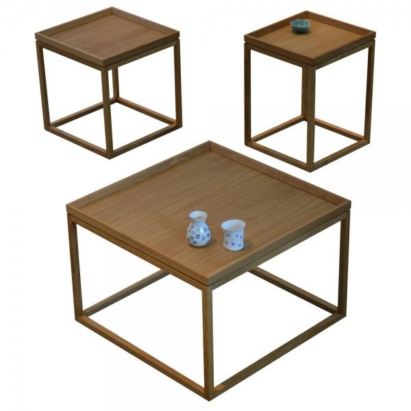 """Tabletttisch """"Square"""" von jankurtz - aus massiver Eiche"""
