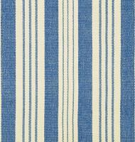 """Dash & Albert Baumwollteppich """"Staffordshire"""" (blau-creme)"""