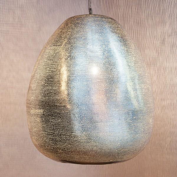 """Silberfarbene Hängeleuchte """"Fili XL"""" aus Messing"""