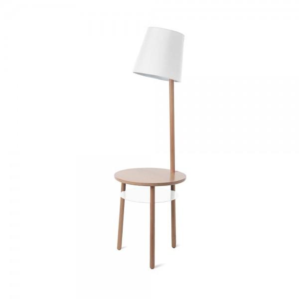 Beistelltisch aus massivem Holz - mit integrierter Lampe