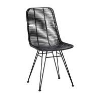 """Hübsch interior Stuhl """"Nova"""" - in Schwarz"""