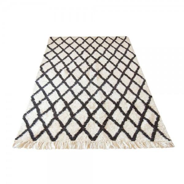 Hochwertiger Berberteppich mit Rautenmuster