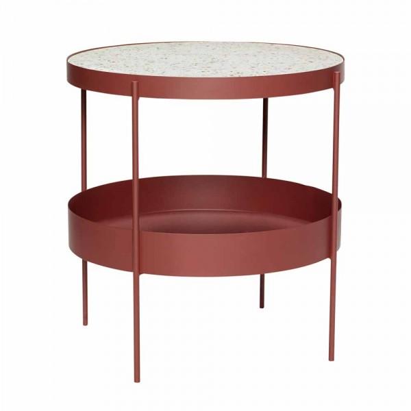 """Beistelltisch """"Anja"""" von Hübsch interior in Rot"""