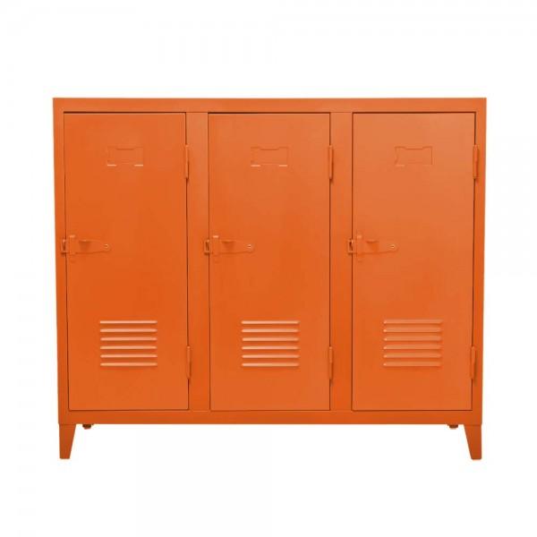 """Tolix Sideboard """"B3 bas"""" aus mattem, orangenem Metall"""