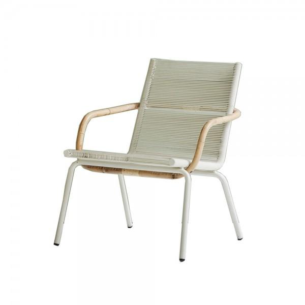 """Lounge Sessel """"Sidd"""" – weiß mit Rattan"""