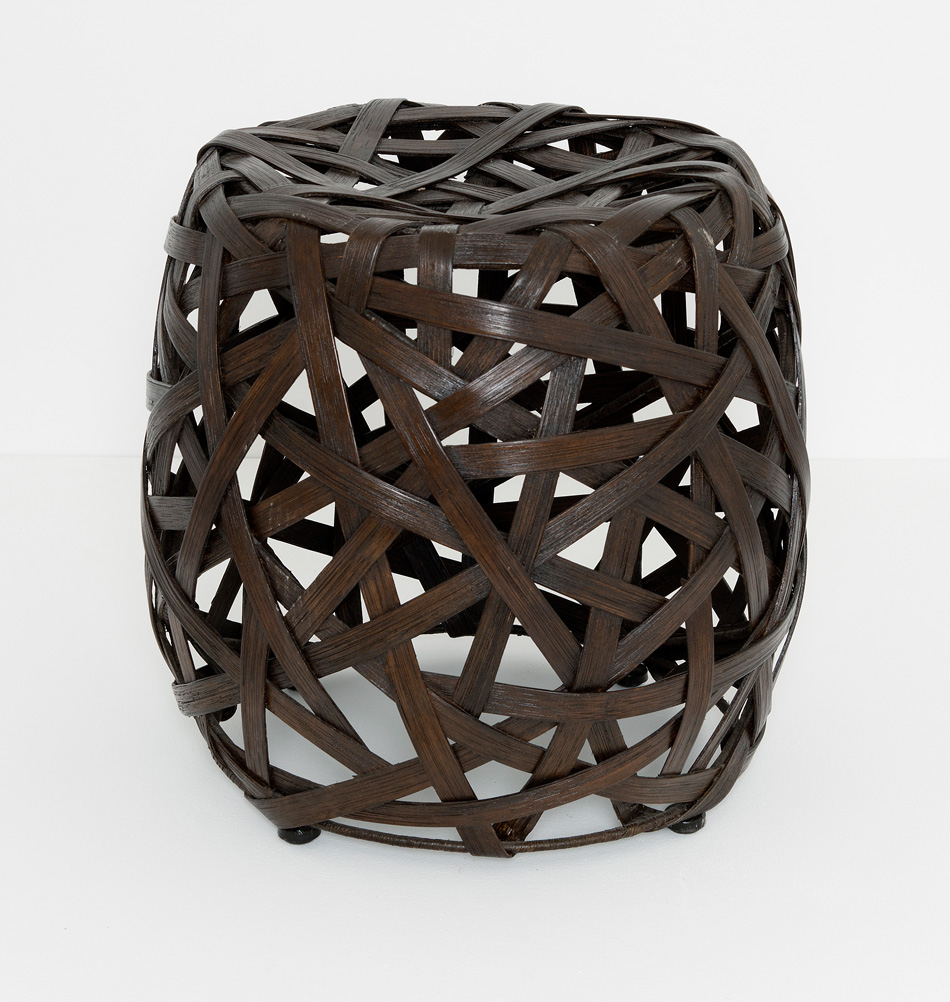 hocker gerald aus rattan braun. Black Bedroom Furniture Sets. Home Design Ideas