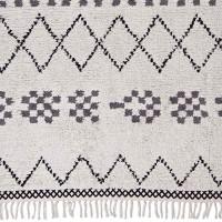 """liv interior Baumwollteppich - hochflorig """"Marrakech"""" (beige-grau)"""