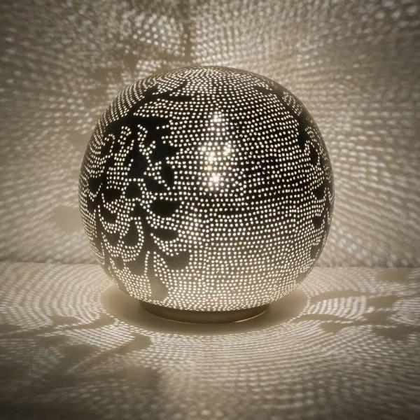 """Orientalische Tischlampe """"Babil"""" in Silber"""