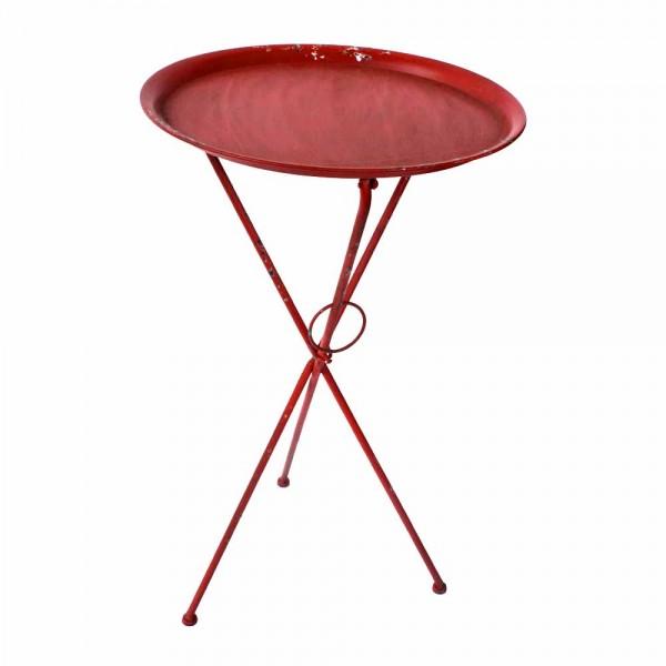 """Roter Gartentisch """"Cord"""" aus Metall"""