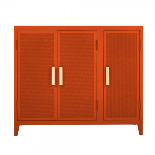 "Tolix Sideboard ""B3 bas perforé"" aus orangenem Metall"