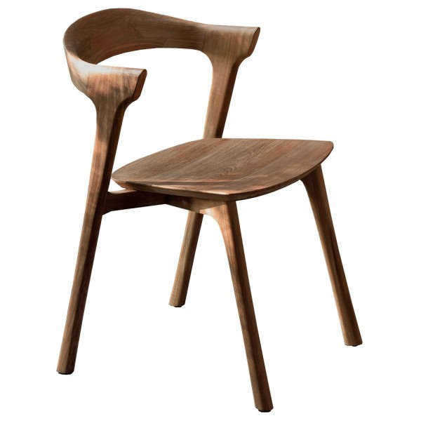 """Holzstuhl """"Bok"""" aus Teak - mit geschwungener Rückenlehne"""