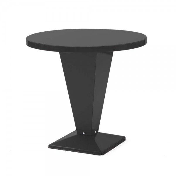 """Tolix Bistrotisch """"Table Kub"""" aus glänzendem, schwarzem Stahl"""