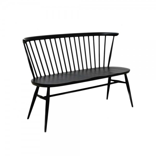 "ercol Bank ""Originals Loveseat"" - in Schwarz"