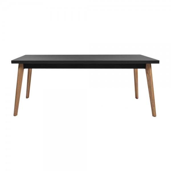 """Tolix Tisch """"Table 55"""" mit schwarzer Tischplatte aus Stahl"""