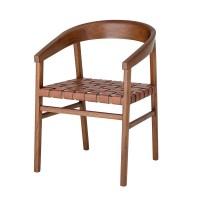 "Bloomingville Stuhl ""Vitus"" aus Holz und Leder"