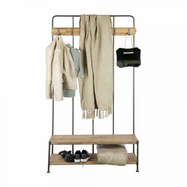 garderobe aus metall holz bei. Black Bedroom Furniture Sets. Home Design Ideas