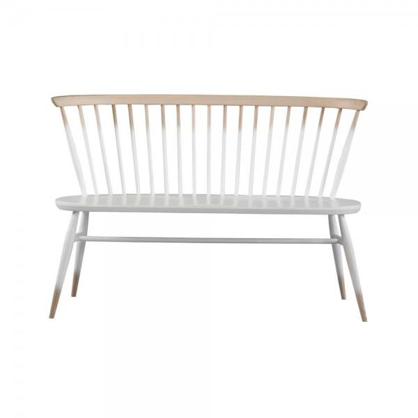 """Sitzbank """"Love Seat"""" mit Farbverlauf in Weiß-Natur"""