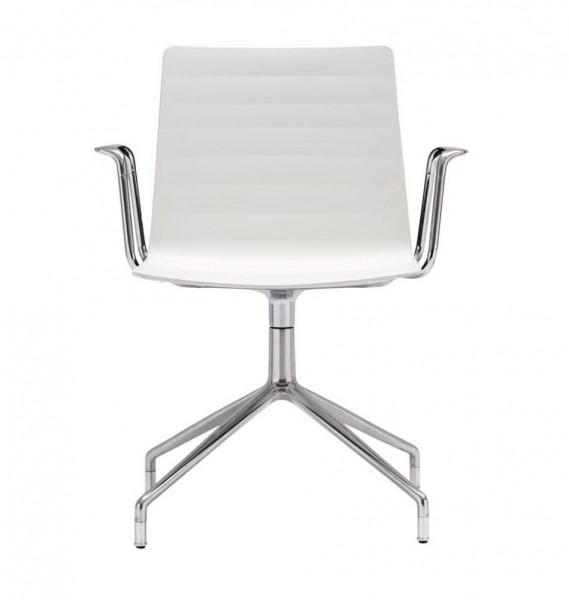 """Weißer Bürostuhl """"Flex"""" mit Armlehnen von Andreu World"""
