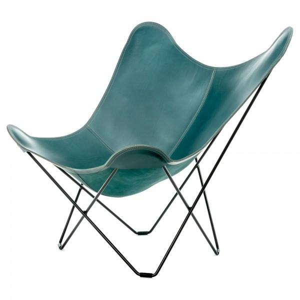 "Cuero Loungestuhl ""Pampa Mariposa"" Leder (blaugrün)"