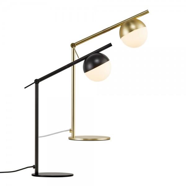 """Tischlampe """"Conte"""" aus Metall und Opalglas"""