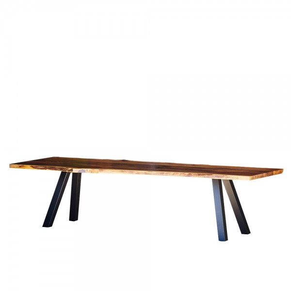 """Designertisch """"Walnut"""" mit Tischplatte aus Walnuss"""