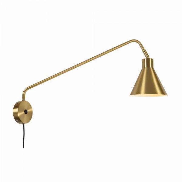 "Goldfarbene Wandlampe ""Leon"""