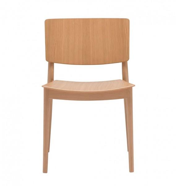 """Andreu World Stuhl """"Happy"""" aus Buche und Eiche"""