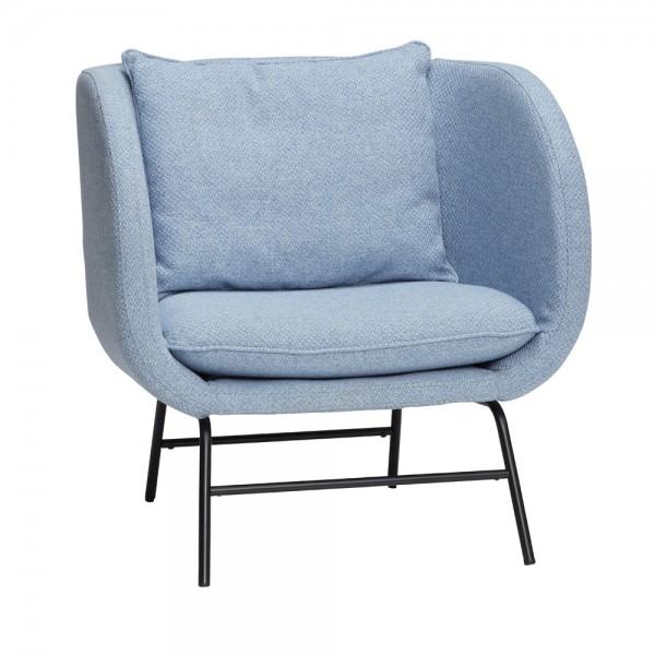 """Blauer Loungesessel """"Nordin"""" von Hübsch interior"""
