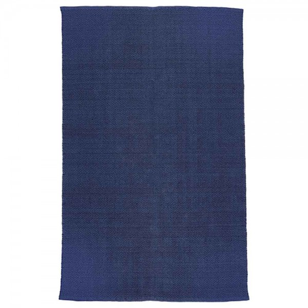 "liv interior Teppich ""Herringbone"" in Blau"