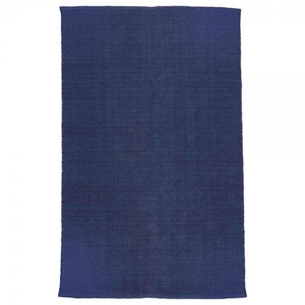 """liv interior Teppich """"Herringbone"""" in Blau"""