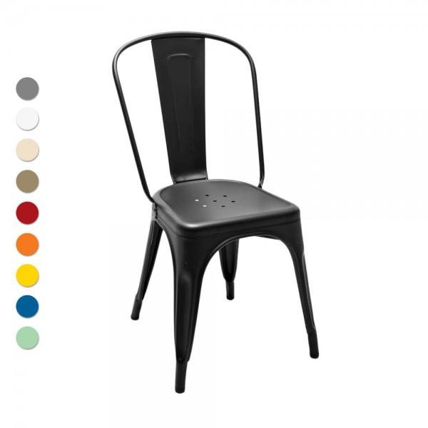"Tolix ""Chaise A"" - Designerstuhl aus mattem Stahl"