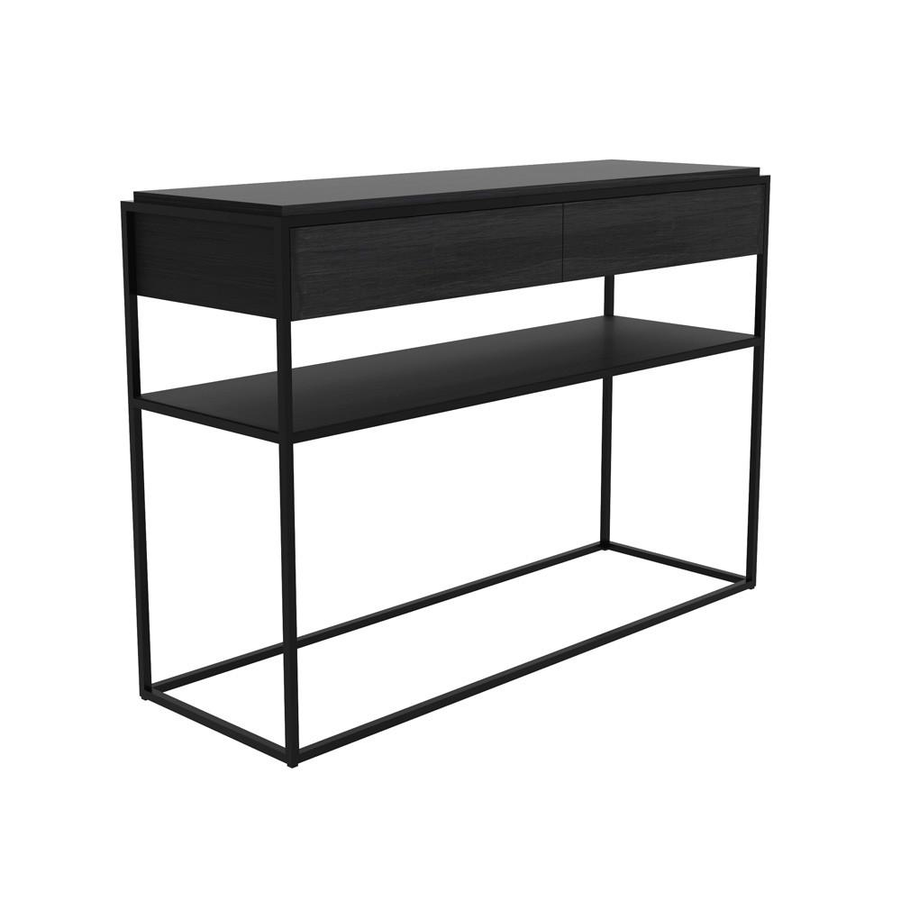 Konsolentisch Modern konsolentisch schwarz metall dekoration ideen