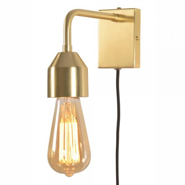 Wandlampe aus goldfarbenem Metall