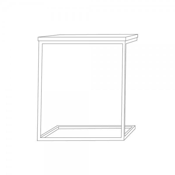 """Beistelltisch """"Flat"""" von jankurtz - in U-Form"""