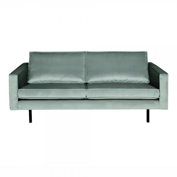 """Samt-Sofa """"Reka in Mint- 2,5- Sitzer im Retro-Stil"""