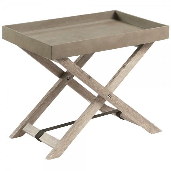 """Tabletttisch """"Marida"""" aus Akazie und Zement"""