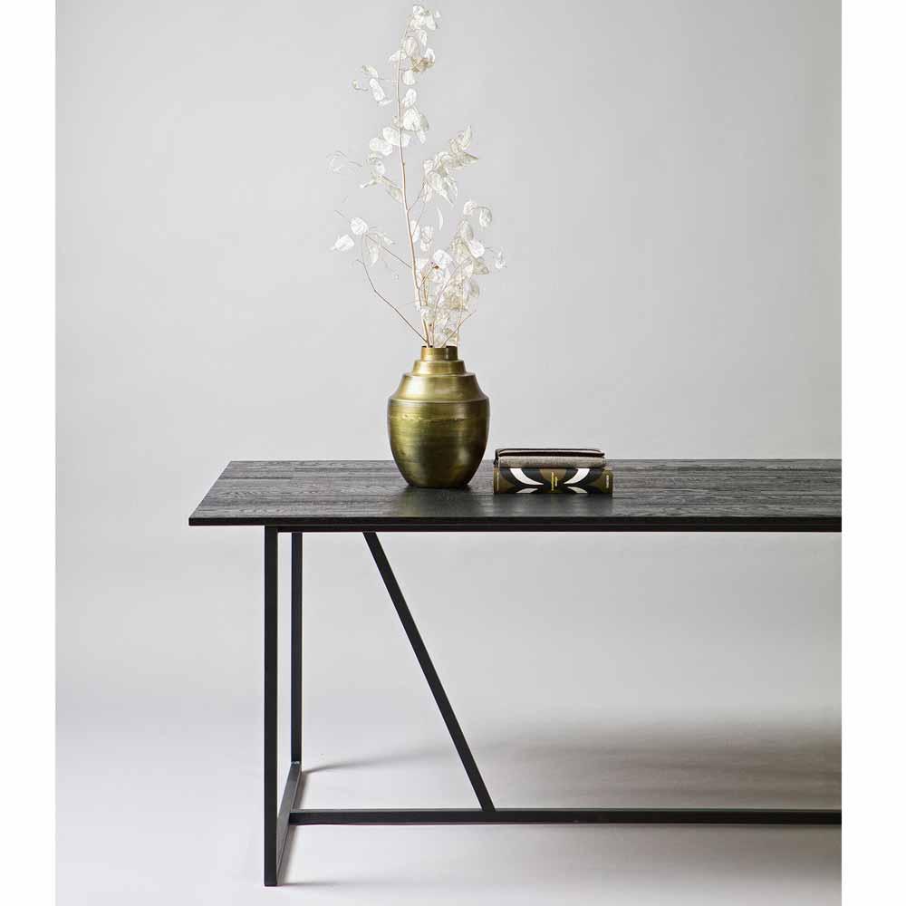 esstisch aus holz metall online bei. Black Bedroom Furniture Sets. Home Design Ideas