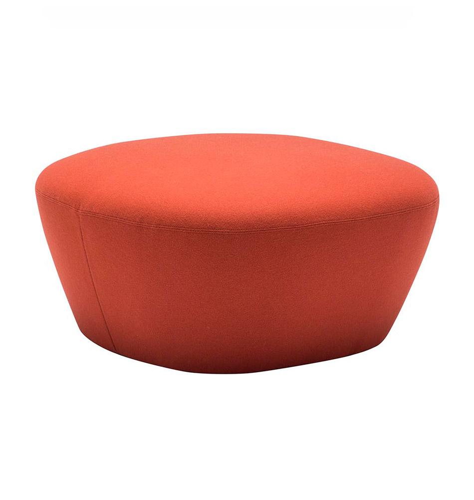 Roter ottoman moderner polsterhocker for Roter ohrensessel