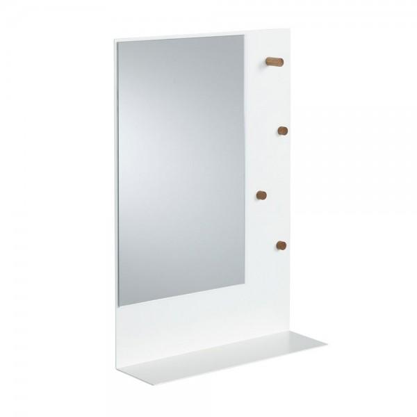 """Weißer Wandspiegel """"Elsja"""" mit Magnettafel"""