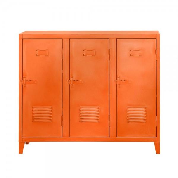 """Tolix Sideboard """"B3 bas"""" aus orangenem Metall"""