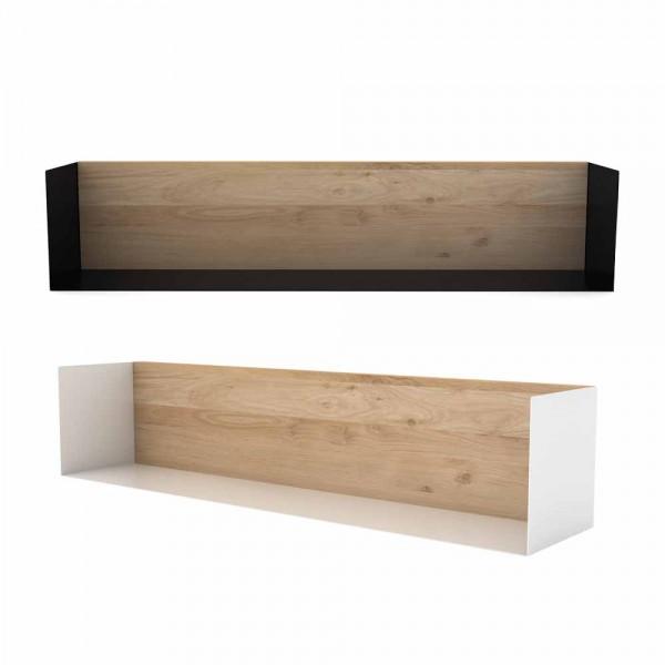 """Regal """"U-Shelf L"""" aus Eiche & Metall"""