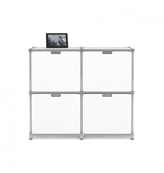 System 180-Highboard - kleiner Schrank in weiß